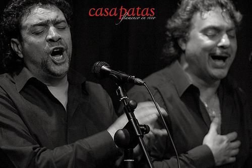 """José Jiménez """"el Bocadillo y Pedro Jiménez al cante. Foto: Martín Guerero"""