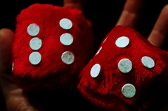 ladybird(0.0), flower(0.0), sports(0.0), number(0.0), games(0.0), beetle(0.0), ball(0.0), petal(0.0), board game(0.0), pattern(1.0), indoor games and sports(1.0), red(1.0), macro photography(1.0), tabletop game(1.0), close-up(1.0), dice(1.0),