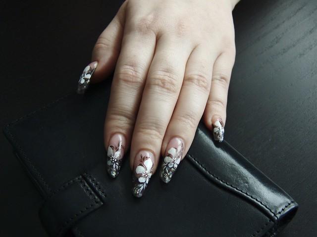 ... mandula körmök / Artificial acrylic nails in russian almond shape