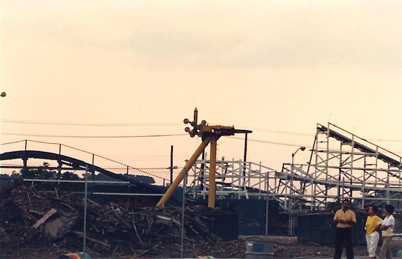 Paragon Park 1985 - Demolition of Roller Coaster