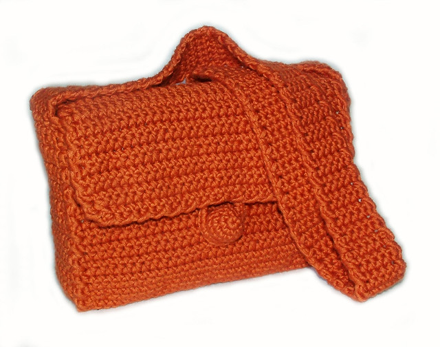 Crochet Simple Bag : Easy Basic Crochet Bag/Purse Pattern -1b Flickr - Photo Sharing!
