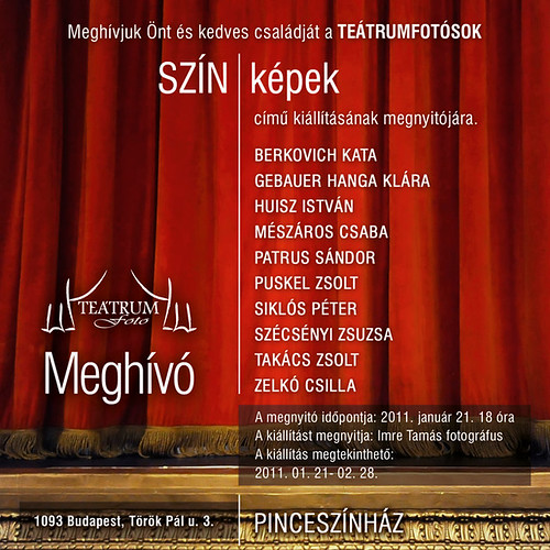 SZÍN-képek – a Teátrumfotó kiállítása