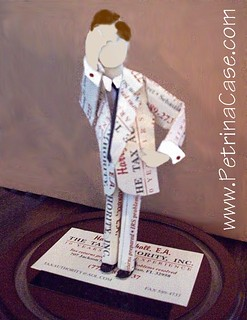 Business Card Sculpture Tax Man