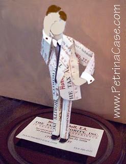 Business Card Sculpture Tax Man