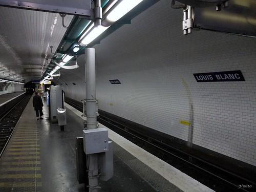 Metro station Louis Blanc: Paris: September 2010 v1