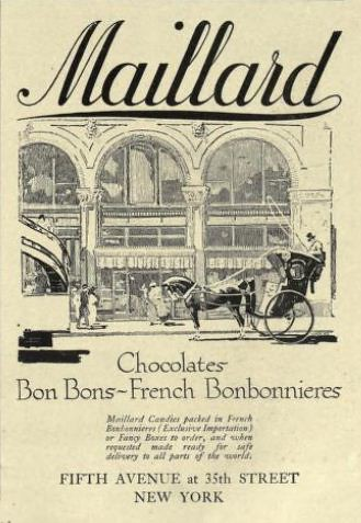1916 Vintage Advert - Maillard Chocolates & Bon Bons