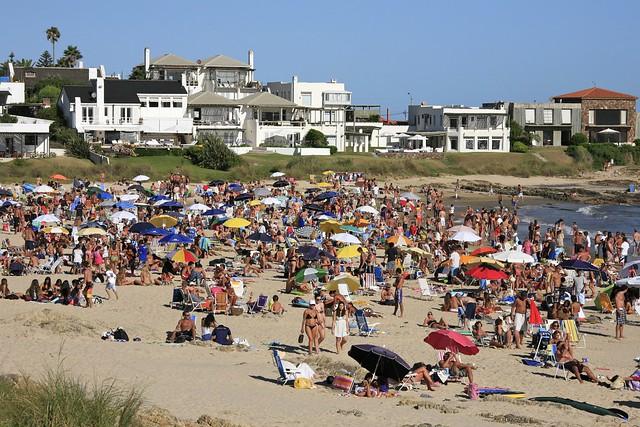 Beach scene in Punta del Este