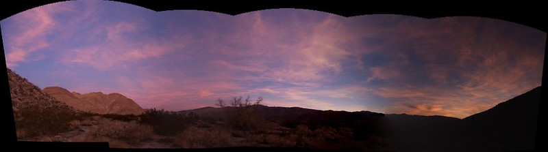 Sunrise panorama in Collins Valley