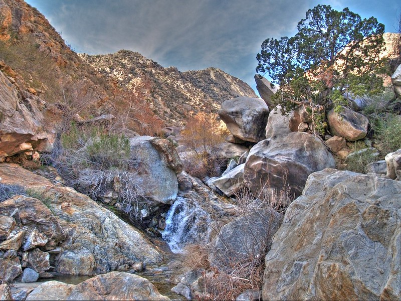 HDR shot of a Cougar Canyon Waterfall