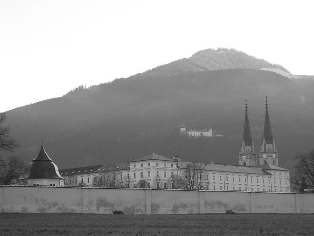 Monastery and mountains