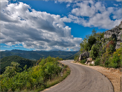 road mountain nature montenegro