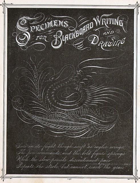 Blackboard Drawing Victorian Calligraphy 1886 Flickr
