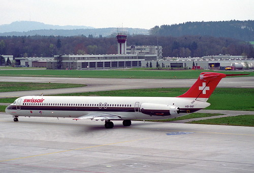 Swissair MD-81; HB-INF@ZRH;17.04.1995