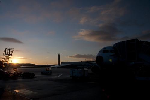 paris sunrise de airport alba charles aeroporto gaulle