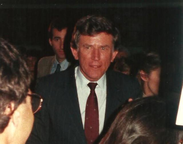 Gary Hart Campaigning in Iowa