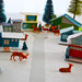 mid-century style putz houses by amy_buthod