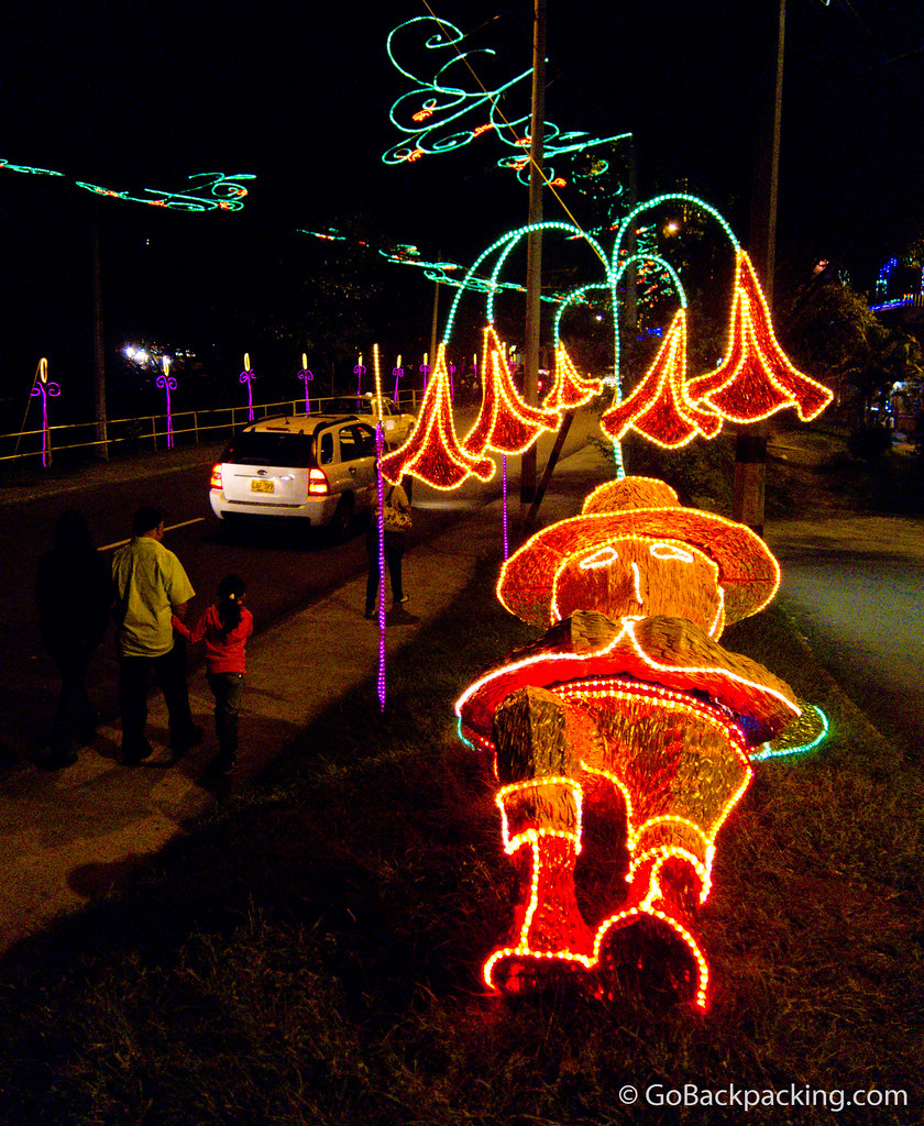 Christmas lights in Envigado