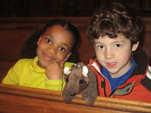 Buddy and friends visit the National Cathedral.