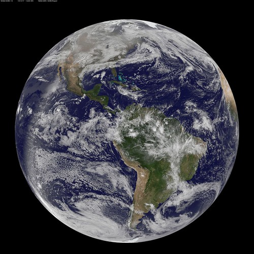 NASA GOES-13 Full Disk view of Earth December 17, 2010
