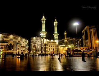 The Holy Mosque in Makkah city..
