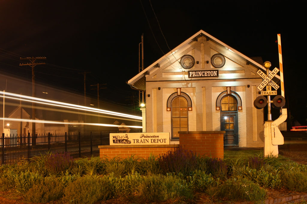 Nighttime at the depot