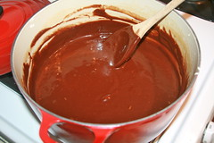 produce(0.0), icing(0.0), ganache(1.0), chocolate pudding(1.0), dulce de leche(1.0), food(1.0), dish(1.0), chocolate(1.0),