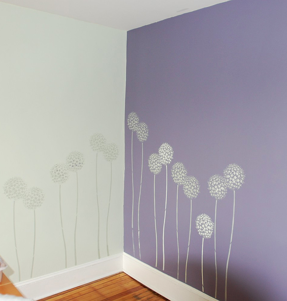 Accent Wall Stencils In A Room. Beautiful Wall Stencils By
