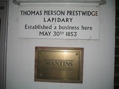 Photo of Thomas Pierson Prestwidge white plaque