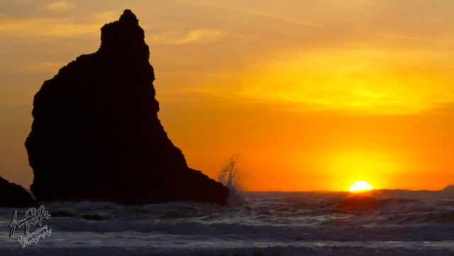 Sunset Cannon Beach Oregon