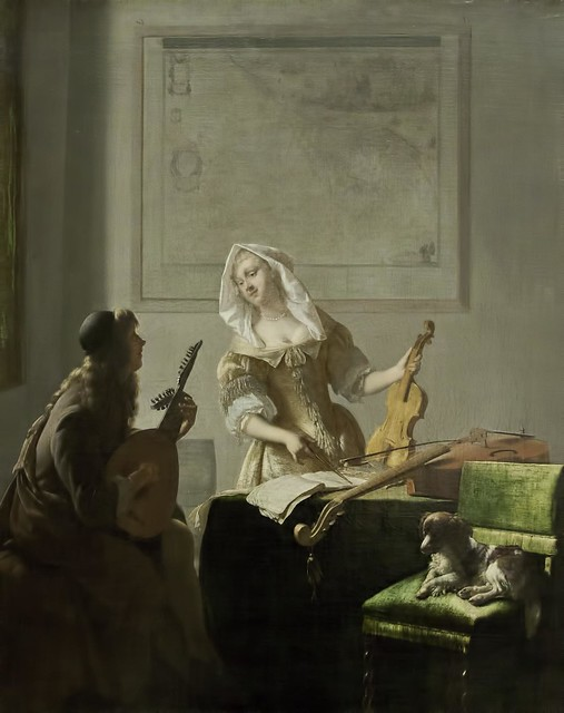 Jacob Ochtervelt: The Music Lesson