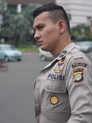 Portrait of a riot police