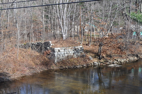 bridge abandoned water stone river crossing newengland newhampshire nh wentworth bm abutment abandonedrailroad bakerriver bostonandmaine