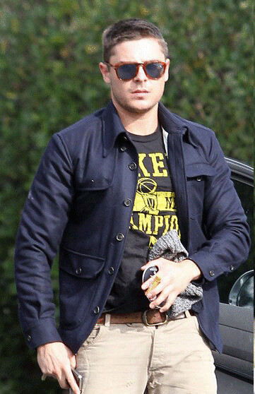 Zac Efron Fashion LA Lakers T Shirt
