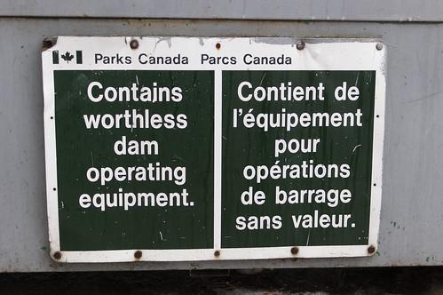 21:365 Worthless dam operating equipment