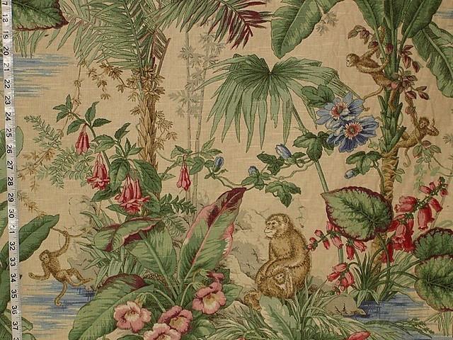 Monkey fabric novelty home decorating flickr photo for Baby monkey fabric prints