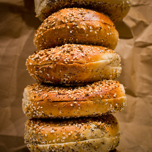 stack of everything bagels [it's the salt, stupid]