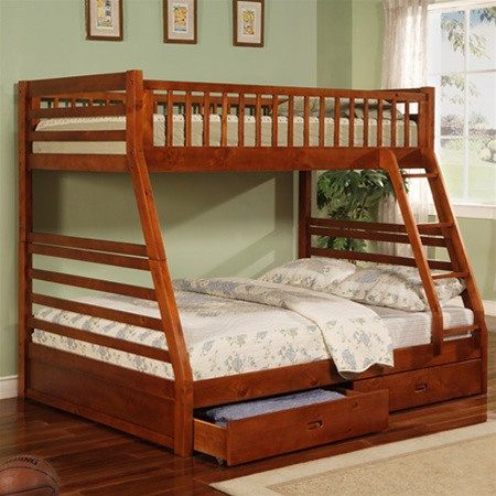 266 cherry bunk bed twin & full $390