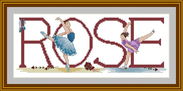 Ice-Skater & Ballet Dancer Cross-stitch