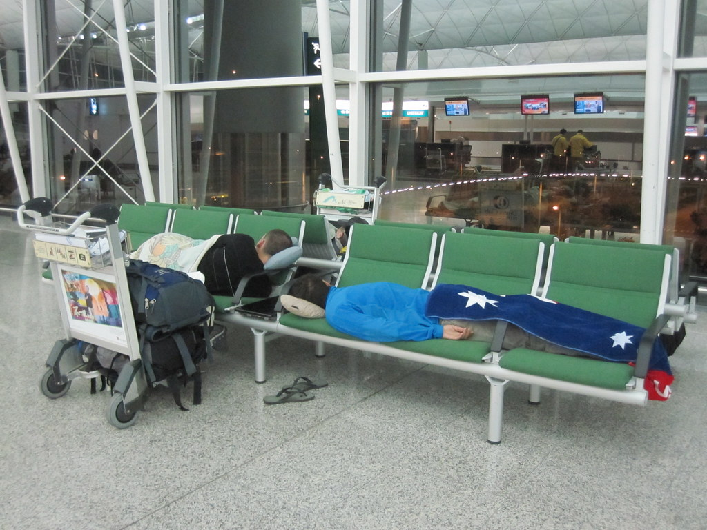 Sleeping at HKG