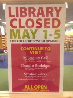 Library Closed sign