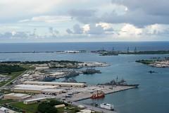 160926-N-NT265-054 APRA HARBOR, Guam (Sept. 26, 2016) Ships from Carrier Strike Group Five including, USS Barry (DDG 52), USS Benfold (DDG 65), USS Chancellorsville (CG 62), USS Curtis Wilbur (DDG 54), USS McCampbell (DDG 85) as wells as USS Stethem (DDG