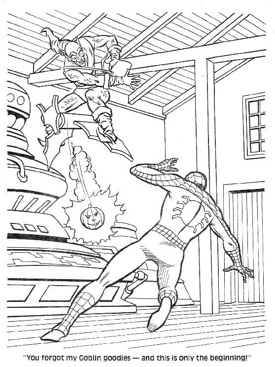 mysterio spiderman coloring pages - photo#16