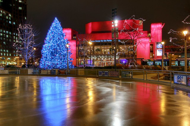 Ice Rink Forms at Red Arrow Park