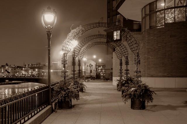 The Riverwalk in Mist