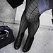 grid pantyhose+stockings with a grid+black and gray+vintage gucci+orig
