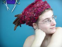 Silk half hat