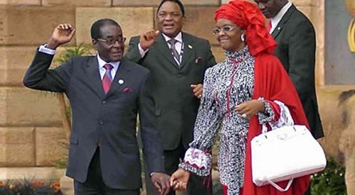 President Robert Mugabe and First Lady Amai Grace Mugabe. The first couple of the Southern African nation of Zimbabwe is attending the UN 67th General Assembly in New York during September 2012. by Pan-African News Wire File Photos