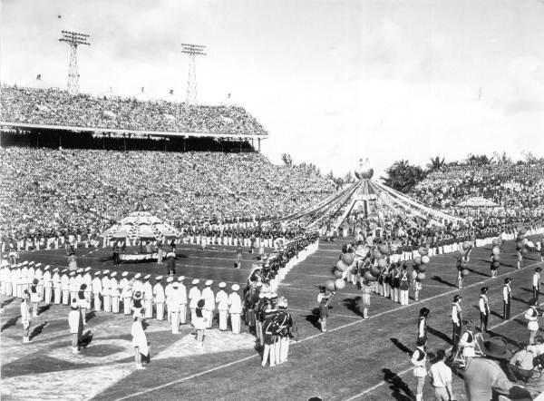 Halftime Show of the Orange Bowl Football Game: Miami, Florida