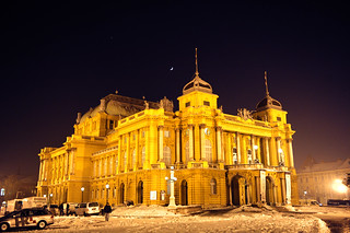 HNK - The building of Croatian National Theater in Zagreb