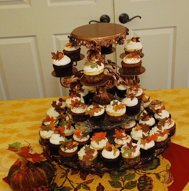 Wedding Cupcake Tower: Fall Wedding Cupcake Tower